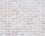 Rustic whitewashed brick wall texture - 247719328