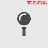 golf ball icon isolated sign symbol and flat style for app, web and digital design. Vector illustration.