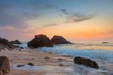 Rocky Sea Landscape at beautiful sundown