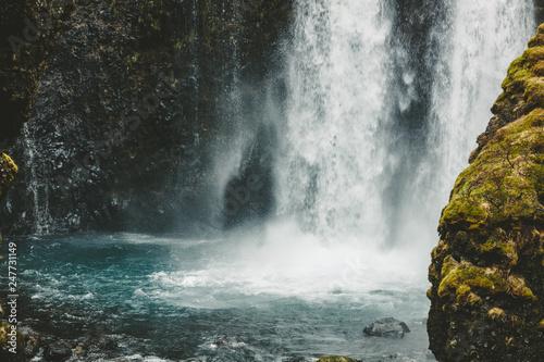 Leinwanddruck Bild Gluggafoss (Merkjárfoss) Wasserfall in Island
