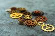 Leinwanddruck Bild - mechanism concept closeup view gear wheel sign icon