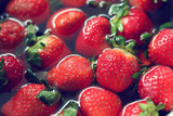 strawberry red fruit cleaning water