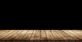 Old dark wooden planks background - 247750155