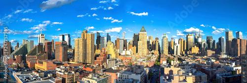 Manhattan Midtown skyline panorama before sunset, New York - 247757985