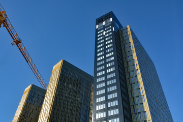 Luxembourg Kirchberg modern buildings