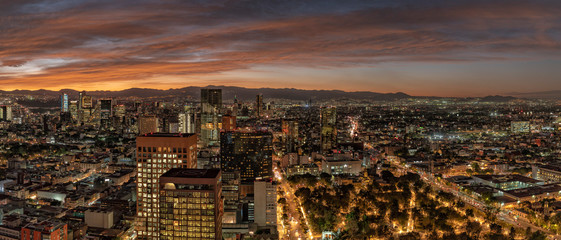Mexico city aerial view panorama © Andrea Izzotti