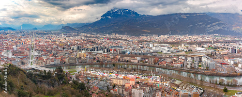 Panorama Old Town of Grenoble, France
