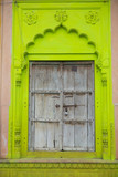 Carved lime door portal in indian style