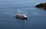 Cruiser arriving in Dubrovnik, Croatia
