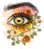 Floral Eye - Stylized art