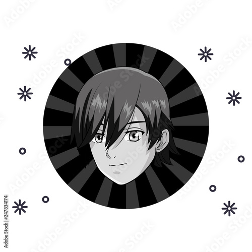 manga anime young man - 247834174