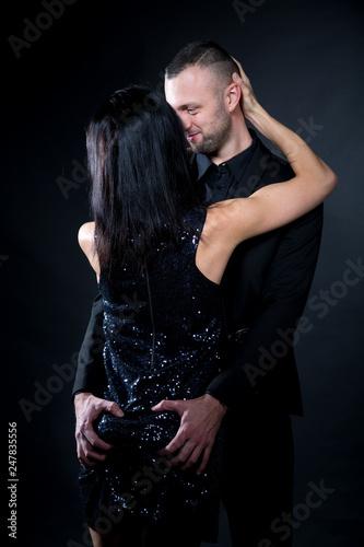 Leinwanddruck Bild Lovers man and woman