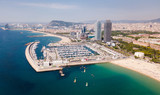 View on picturesque seaside of Barcelona in the Spain