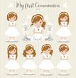 Lovely set of girls for First Communion - 247839757