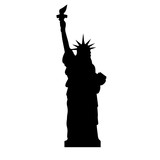 Statue of Liberty icon. City design. Vector illustration. Travel destination and famous place. Landmark. Freedom and Democracy