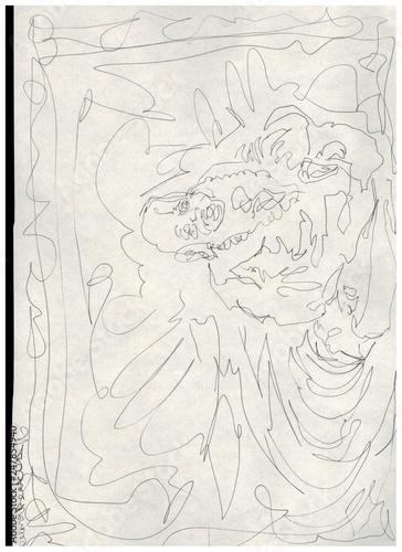 Buddha line sketch © Kostia