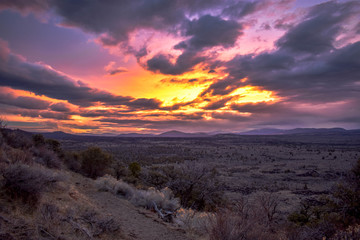 Sunset from Lava Beds National Monument