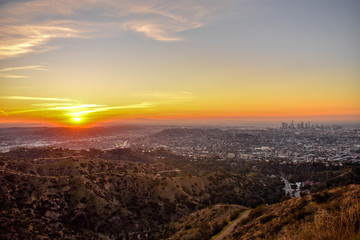 Los Angelos at sunrise
