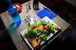 table of a French restaurant with glasses and flatware - 247868962