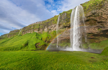 Famous Iceland Waterfall in the summer © Neil
