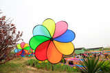 Color windmill in the park - 247879131