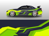 Car decal wrap company designs vector . Livery wrap company , van , cargo, truck .