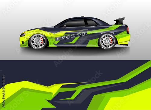 Car decal wrap company designs vector . Livery wrap company , van , cargo, truck . - 247884788