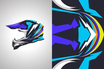 Helmet decal wrap designs vector . Livery helmet motorcycle . Sport helmet , livery, designs helmet.