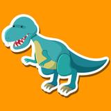 A tyrannosaurus cartoon character