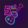 Cinco de mayo neon banner. Vector illustration design