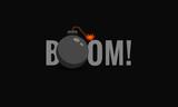 Boom Bomb Typography Concept