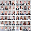 Leinwanddruck Bild - portraits of successful young businessmen isolated on white