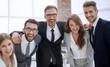 Leinwandbild Motiv happy business team standing together