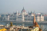 View of Hungarian parliament at Danube river in Budapest city, Hungary - 247900568