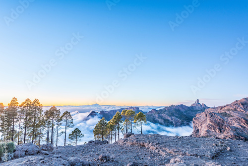 mountain landscape with  blue sky