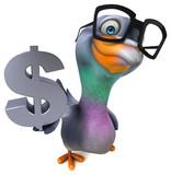 Fun pigeon - 3D Illustration - 247915318