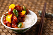 chinese sweet and sour pork rice