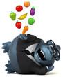 Fun gorilla - 3D Illustration - 247918919