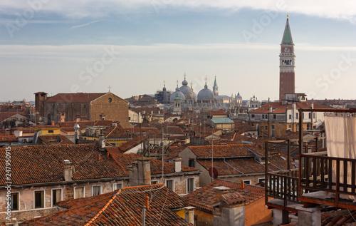 Venetian Roofs and Sain Mark's Basilica