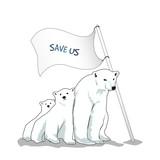 Vector illustration of polar bear
