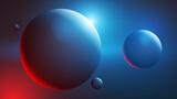 Fototapeta Kosmos - 3d kule tło wektor © Rzoog