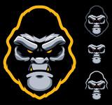 Gorilla Face Mascot - 247990730