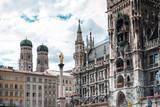 MUNICH, GERMANY- June 25, 2018: Street view of downtown Munich, Germany. - 247991909
