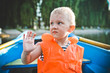child life jacket orange boat emotions anxiety