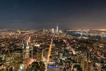 Big Apple after sunset. Manhattan at night, New york city