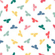colorful seamless pattern with leaves - 248029533