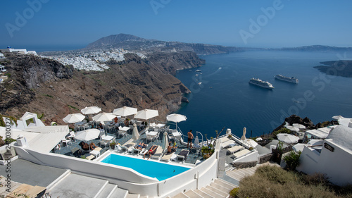 Santorini landscape in summer  time , Greece Travel  © Eduard