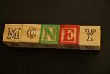 Word Money written using wooden cubes - 248032157