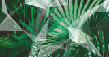 Palm Leaves. Geometric Abstract design. Polygonal tropical background. - 248033984