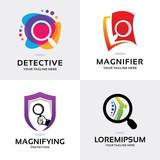 Magnifying Logo Set Design Template Collection - 248040994